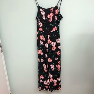 TopShop | Women's Floral Jumpsuit | Size 6
